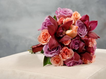 Roses, Spray Roses, and Cymbidium Orchid